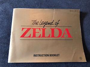 The Legend of Zelda Instruction Booklet NES-ZL-USA-2 Nintendo Manual NES
