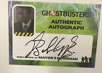 2016 Cryptozoic GHOSTBUSTERS Bobby Brown Mayor's Doorman Auto Autograph Card
