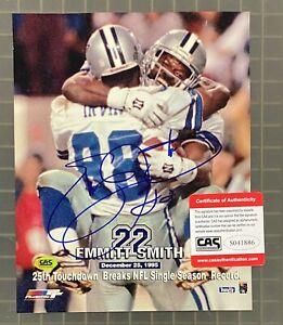 Emmitt Smith Signed 8x10 Photo Autographed AUTO CAS COA Dallas Cowboys HOF