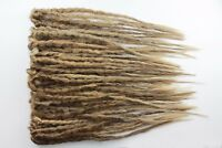 Medium Brown & Blonde Crochet Dreadlocks Extensions, Single & Double Ended.