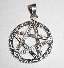 Anhänger Kette PENTAGRAMM Talismann Amulett ECHT Silber 925 Gothic Mystik SS74