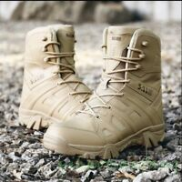 New Fashion Occident Mens Hiking Comfort Military Combat High Top Biker Boots Y1