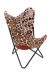 Leather Living Room Chairs-Butterfly Chair Leather Chetah Print