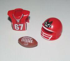 Playmobil Lot Accessoires Sport Football Americain Casque + Plastron + Ballon