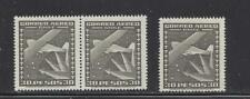 CHILE - C151 - SINGLE & SE-TENANT PAIR - MNH - 1953 - PLANE AND SOUTHERN CROSS