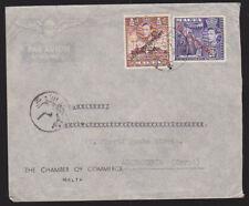 Malta 1949 Cover Aerogramme Chamber of Commerce Self-Government Alexandria Egypt