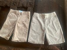 Boys Size 8 Lot of 2 Khaki Shorts Adjustable Waist Classic Club Chino/Uniform