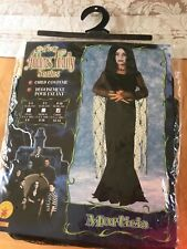 Girls The new Adams Family Morticia Halloween costume, size 12-14 Large
