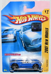 HOT WHEELS 2007 NEW MODELS FORD GTX1 BLUE FACTORY SEALED