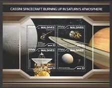 MALDIVES 2018 CASSINI SPACECRAFT SOUVENIR SHEET OF 4 STAMPS IN MINT MNH UNUSED