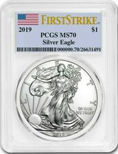 2019 ~ AMERICAN SILVER EAGLE ~ PCGS ~ MS~70 ~ FIRST STRIKE~ FLAWLESS GEM ~ $9.99