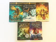 Lot of 5 Rick Riordan~Heroes of Olympus~Gods of Asgard 1~ Percy Jackson EUC