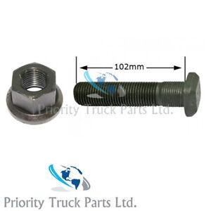 10 x Scania Rear Wheel Studs & Nuts - For Alloy Wheels - 102mm