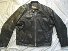 Vanson Leather Jacket Brown Cafe Sport Racing USA Made 70s Talon Zippers 42