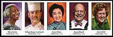 US 4922b-4926b Celebrity Chefs imperf NDC strip set MNH 2014