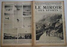 Le Miroir des Sports n°91- 1922 - Rugby Automobile Football Cycliste Boxe Tennis