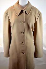 Liz Claiborne 22 W Woman Camel Beige Mid Length Wool Cashmere Dress Coat Jacket