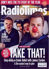 RADIO TIMES magazine 18 March 2017 Take That Gary Barlow Luke Evans Emma Watson
