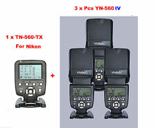 Yongnuo YN560-TX N  Wireless Flash Controller for Nikon + 3 Pcs YN-560IV Flash