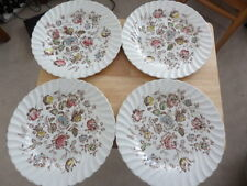 4 x DINNER PLATES JOHNSON BROTHERS (HANLEY) LTD - STAFFORDSHIRE BOUQUET 24.5cm