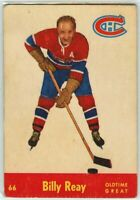 1955-56 Parkhurst Hockey #66 Billy Reay OTG G-VG Condition (2020-01)