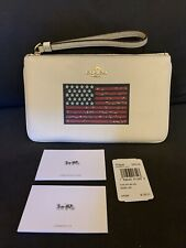 NEW Coach F73609 Large Wristlet American Flag Motif fits iphoneplus