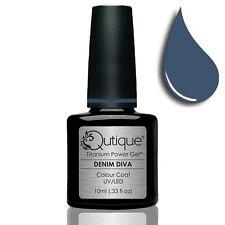 QUTIQUE Gel Nail Polish Colour -DENIM DIVA -UV & LED -denim blue NEW RELEASE