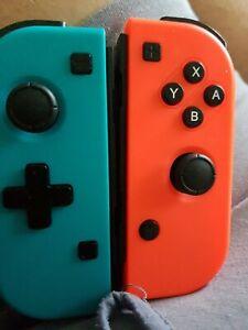 Qumox Joy-Con Manettes sans Fil pour Nintendo Switch - Bleu/Rouge