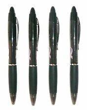 (Lot of 4) ZEBRA Z-Grip Max Bold Breast Cancer Black Ball Point Pens 1.2 mm NEW