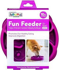 Outward Hound Fun Feeder Dog Bowl Slow Feeder Stop Bloat for Dogs, Medium/mini