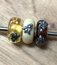 Trollbeads Day Wings Of Amber Creamy Color Rare Bead #2