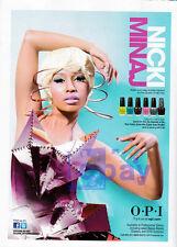 Nicki Minaj 1pg clipping Feb 2012 ad for OPI