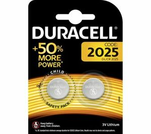 2x Duracell CR2025 3V Lithium Coin Cell Batteries 2025 button DL2025. 0110