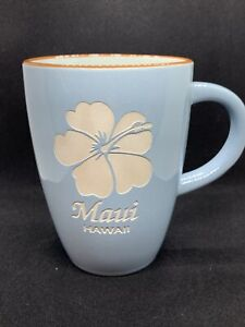 Designs of Hawaii Island Collection Maui Hawaiian Coffee Mug Flower Blue