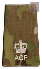 Pair Multicam MTP ACF Major RANK SLIDES (  Army Cadet Force Cadets
