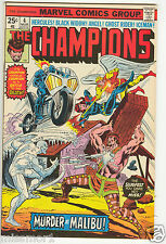 The Champions comic #4 NM Bronze Age 1970's Black Widow Ghost Rider Motorcycle
