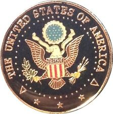 UNITED STATES of AMERICA Presidential Seal CREST Round Lapel Pin Badge MINT NEW!