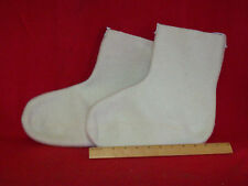 GENUINE US MILITARY 100% WOOL MUCKLUK / BUNNY / MICKEY BOOT INSERTS MEDIUM NOS