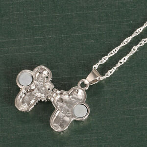 Fashion 925 Silver Unisex Hollow-out Magnet Cross Pendant Necklace New Arrival