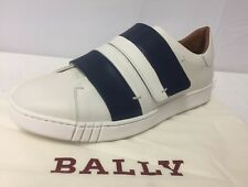 Bally 'willet' Red Leather Strap Low Top SNEAKERS Sz 9eu/10us