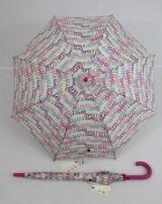 ESPRIT bunter Regenschirm Stockschirm  für Damen  Letter Dance white 53109