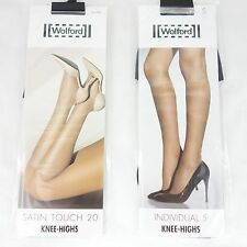 WOLFORD Kniestrümpfe Knee Highs Set INDIVIDUAL 5 SATIN TOUCH 20 Schwarz S NEU