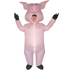 Adult Animal Inflatable Pig Costume Halloween Cosplay Fancy Dress Carnival Party