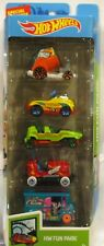 2019 HOT WHEELS 5 PACK FUN PARK BOOM CAR, PEDAL DRIVER, ICE CREAM TRUCK