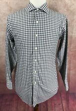 Brooks Brothers 346 Slim Fit Non Iron Long Sleeve Gray Check Shirt Men's 15 2/3