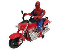 Spiderman Electric Rotation Music Light Kids Toys Xmas Gift Bump & Go Motorbike