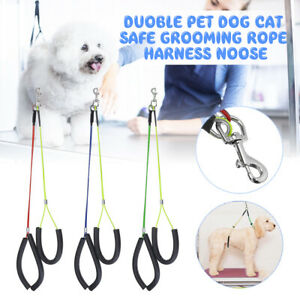 Duoble Dog Cat Safe Grooming Loop Table Pet Arm Body Holder Rope Harnes