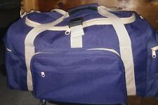 24 Inch Navy Blue Duffle Or Travel Bag Used