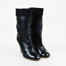 "Chanel Fall 2010 Black Calfskin Leather ""Short"" Boots SZ 42"
