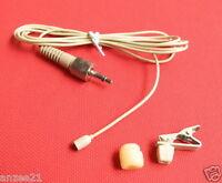 Beige Omni-Directional Lapel Lavalier Microphone for Sony Sennheiser Wireless